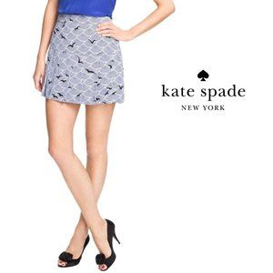 Kate Spade Silk Pleated Skirt 6